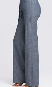 Banana Republic Chambray Pants Drawstring Blue10